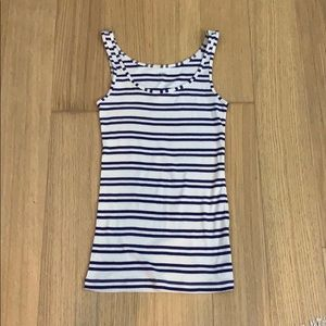 Loft Purple Striped Tank Top